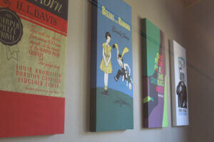 Book Cover Wall Art