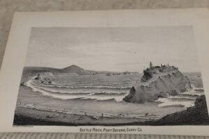 Early depiction of Battle Rock